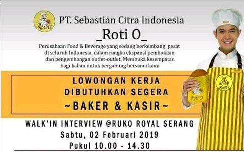 Datang Langsung Interview Walk In Interview Roti O Royal Serang